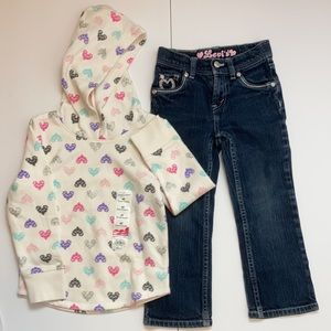 NWT Jumping Beans Hoodie&EUC Levi jeans C-34